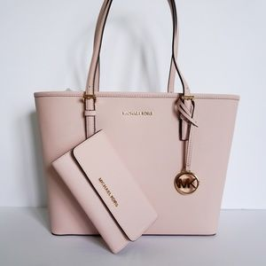 Michael Kors Medium Tote & Wallet Set Blossom Pink